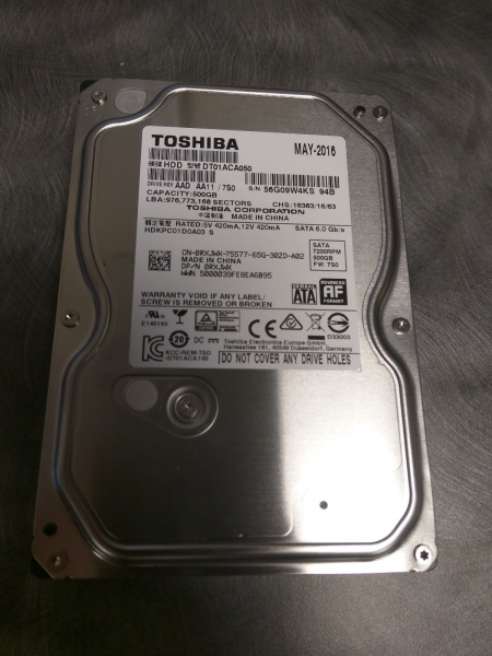 Ổ cứng Toshiba Internal 3.5 500Gb
