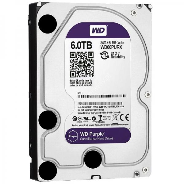 WD HDD PURPLE 6TB/3.5