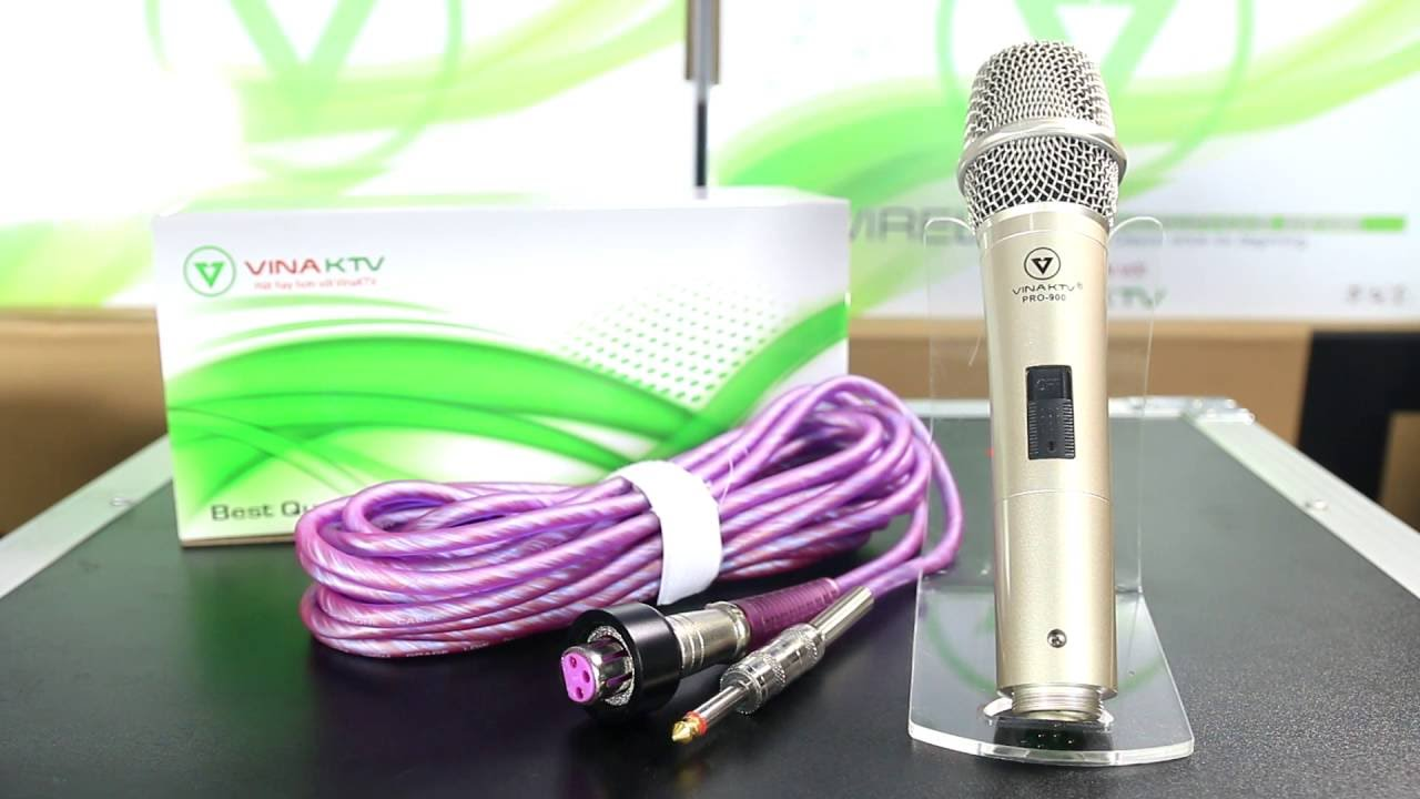 Micro có dây VinaKTV S900pro dùng cho hội trường